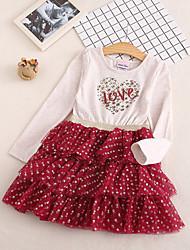 cheap -Kids Girls' Heart Dress Beige