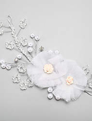 cheap -Crystal / Imitation Pearl / Rhinestone Headdress with Imitation Pearl / Crystal / Rhinestone / Flower 1 Piece Wedding Headpiece