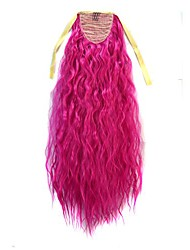 cheap -Drawstring Ponytails / Synthetic Extentions Soft / Smooth / Adjustable Synthetic Hair Hair Piece Hair Extension Wavy 24 inch Party / Evening / Daily / Heat Resistant