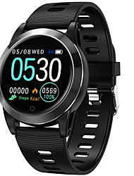 cheap -Smartwatch Digital Modern Style Sporty Silicone 30 m Water Resistant / Waterproof Heart Rate Monitor Bluetooth Digital Casual Outdoor - Black Black / Gray Blue