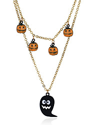 cheap -Witch Vintage Necklace Retro Vintage Halloween Alloy Necklace Masquerade For Masquerade Party / Cocktail Halloween Carnival Women's Costume Jewelry Fashion Jewelry