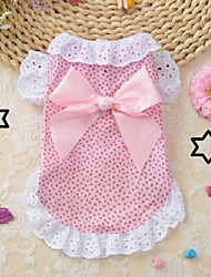cheap -Dogs Cats Pets Dress Dog Clothes Blue Pink Costume Baby Small Dog Polyster Bowknot Cute XS S M L XL