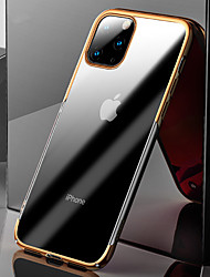 cheap -Case For Apple iPhone 11 Pro Max Shockproof / Plating / Ultra-thin Back Cover Transparent TPU