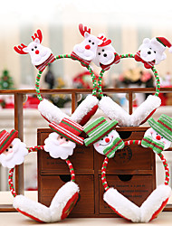 cheap -Pretty Christmas Earmuffs Warmer Earmuffs Plush Santa Claus Earmuffs For Children