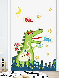 cheap -Cartoon Dinosaur PVC Wall Stickers - Plane Wall Stickers Transportation / Landscape Study Room / Office / Dining Room / Kitchen