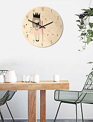 Недорогие -новая деревянная печатная картина настенные часы комната милых девчонок окружающая среда тишина