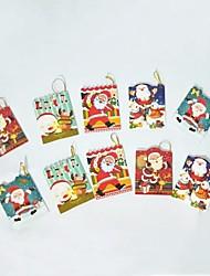 cheap -10Pcs Christmas Tree Ornaments Greeting Card Card Wish Card 6*5.5Cm Design Is Random