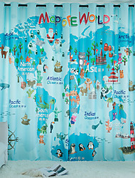 cheap -Curtain High Blackout Christmas Whole World Printed Home Bedroom Customisable
