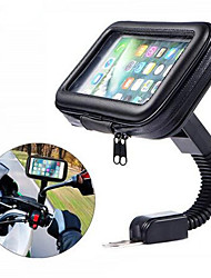 cheap -Motorcycle Telephone Holder Support Moto Bicycle Rear View Mirror Stand Mount Waterproof Scooter Motorbike Phone Bag for Samsung