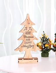 cheap -DIY Christmas Tree Lighting Main Color Wood Christmas Tree Gift Ornament Christmas Tree Table Desk Decoration