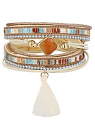cheap -Women's Leather Bracelet Classic Rainbow Bohemian Fashion Folk Style PU(Polyurethane) Bracelet Jewelry Gold For Gift Daily Work