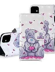 cheap -Case For Apple iPhone 11 / iPhone 11 Pro / iPhone 11 Pro Max Wallet / Card Holder / with Stand Full Body Cases Heart / Panda PU Leather