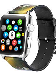Недорогие -браслет с кожаным ремешком с изображением крана для яблочных часов 40мм / 44мм / 42мм / 38мм ремешок для браслета корра для серии iwatch 5/4/3/2/1