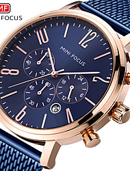 cheap -Men's Dress Watch Quartz Formal Style Modern Style Black / Blue 30 m Water Resistant / Waterproof Casual Watch Large Dial Analog Classic Fashion - Black Brown Golden+Black