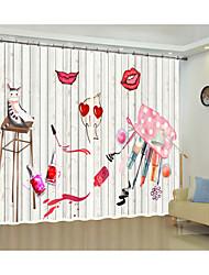 cheap -Creative Digital Printing of Cosmetic Lipstick Patterns 3D Curtain Shade Curtain High Precision Black Silk Fabric High Quality First-Class Shade Curtain