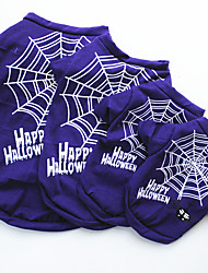 cheap -Dogs Sweatshirt Spider Dog Clothes Purple Costume Pug Poodle Chihuahua Cotton Classic Vampires Cosplay Halloween XS S M L
