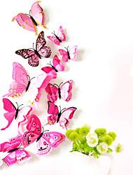 Недорогие -животные двухслойные наклейки на стену 3d наклейки на стену декоративные наклейки на стену выключатели света наклейки на холодильник свадебные наклейки пвх домой - розовый