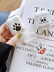 cheap -AirPods Case TPU Soft Lovely Dog Pattern Portable For AirPods1 AirPods2 (AirPods Charging Case Not Included)
