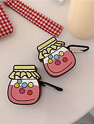 Недорогие -мультфильм милые баночки с конфетами airpods1 / 2 поколения беспроводная Bluetooth-гарнитура набор силиконовый чехол личность для мужчин и женщин