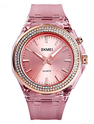cheap -SKMEI Women's Quartz Watches Fashion White Blue Pink PU Leather Japanese Quartz White Purple Blushing Pink Water Resistant / Waterproof Creative New Design 30 m 1 pc Analog