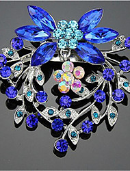 cheap -Women's Cubic Zirconia Brooches Geometrical Santa Suits Stylish Brooch Jewelry Blue For Christmas Daily