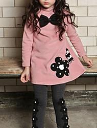 cheap -Kids Girls' Floral Dress Wine