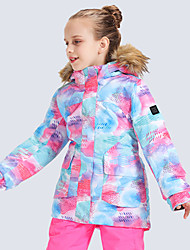 cheap -GSOU SNOW Boys' Ski Jacket Snow Jacket Waterproof Windproof Warm Wearable Winter Tracksuit for Skiing Camping / Hiking Winter Sports / Girls' / Kids