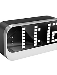 cheap -Digital LED Alarm Clock with Dimmer and Snooze, 2 Level Alarm Volume Optional, Large White Digit Display Bedside Clocks with USB Port Phone Charger