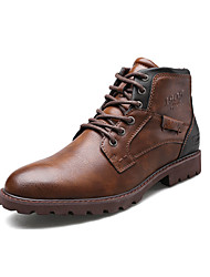 cheap -Men's Formal Shoes Faux Leather Fall & Winter Vintage / British Boots Non-slipping Booties / Ankle Boots Black / Brown / Wedding / Party & Evening