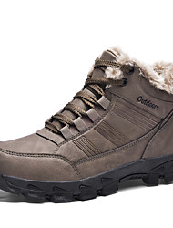 cheap -Men's Fashion Boots PU Winter / Fall & Winter Sporty / Casual Boots Hiking Shoes / Walking Shoes Breathable Booties / Ankle Boots Black / Brown