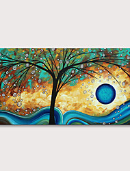 cheap -Oil Painting Hand Painted Floral / Botanical Abstract Landscape Modern Rolled Canvas Rolled Without Frame