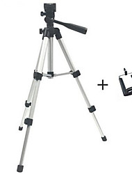 cheap -Professional Foldable Camera Tripod Holder Stand Screw 360 Degree Fluid Head Tripod Stabilizer Aluminum with Phone Holder