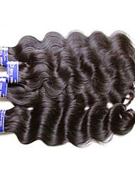 """Недорогие -4 Связки Перуанские волосы Естественные кудри Не подвергавшиеся окрашиванию Необработанные натуральные волосы Человека ткет Волосы 10""""~30"""" Нейтральный Ткет человеческих волос"""
