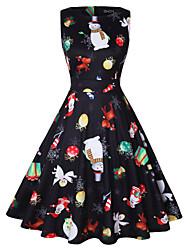 cheap -Audrey Hepburn Retro Vintage Dress Women's Spandex Costume Black / Red / White / RedYellow Vintage Cosplay