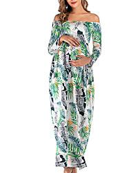 cheap -Women's Street chic Elegant Swing Dress - Floral Black White S M L XL