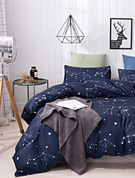 cheap -Star Night Print 3 Pieces Bedding Set Duvet Cover Set Modern Comforter Cover-3 Pieces-Ultra Soft Hypoallergenic Microfiber Include 1 Duvet Cover and 1 or2 Pillowcases
