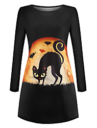 cheap -Cat Dress Adults' Women's Retro Vintage Halloween Halloween Festival / Holiday Polyester Black Women's Carnival Costumes