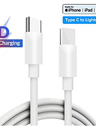 cheap -PD Fast Charging Cable For USB C Lightning For iPhone Xs X 8 pin to TypeC 3A Quick charger for Type C Lightning Macbook to phone
