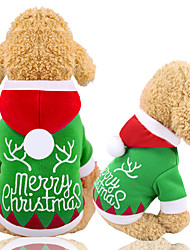 cheap -Dogs Vest Christmas Winter Dog Clothes Red / Green Christmas Costume Baby Small Dog Bichon Frise Poodle Fabric Character Christmas Halloween XS S M L XL XXL