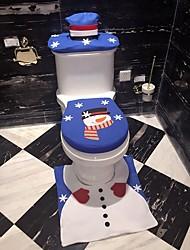cheap -Bathroom Foot Pad Seat Cover Christmas Santa Toilet Seat Cover And Bath Mats 1 Set
