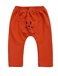 abordables -bébé Fille Actif / Basique Imprimé Imprimé Pantalons Gris Clair