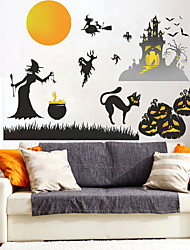 cheap -Decorative Wall Stickers - Plane Wall Stickers / Holiday Wall Stickers Landscape / Halloween Decorations Living Room / Bedroom / Kitchen