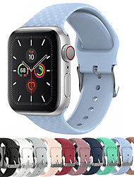 cheap -3D Texture Silicone Watch Band For Apple Watch Series 5/4/3/2/1 Replaceable Sport Bracelet Wrist Strap Wristband