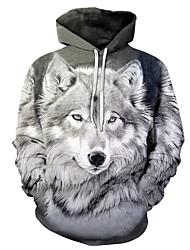 cheap -Men's Hoodie Print / 3D Hooded Basic Gray US32 / UK32 / EU40 US34 / UK34 / EU42 US36 / UK36 / EU44 US38 / UK38 / EU46 US40 / UK40 / EU48
