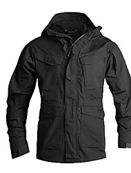 cheap -Men's Hunting Jacket Outdoor Thermal / Warm Waterproof Windproof Breathability Spring Summer Fall Camo Jacket Top Cotton Camping / Hiking Hunting Climbing Black Brown Army Green / Winter / Winter