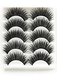 cheap -5 Pairs Eyelashes 3D Mink Hair False Eyelashes Natural Thick Long Bulk Eye Lashes Wispy Makeup Beauty Extension Tools