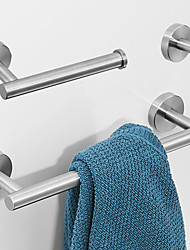 cheap -Bathroom Accessory Set ,Towel Bar/Robe Hook/Toilet Paper Holder Bathroom Accessories Set,3pcs Wall Mounted Stainless Steel Bathroom Accessories