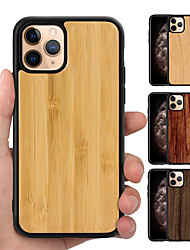 cheap -Real Pure Wooden Back Anti-fall TPU Hybrid Phone Case Cover For iphone 11 Pro Max XR XS Max X 8 Plus 7 Plus 6 Plus