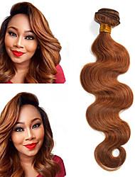 cheap -1 Piece Indian Body Wave Hair 100% Human Hair Weave #30 Medium Auburn Human Hair Bundle 10-18 Inch