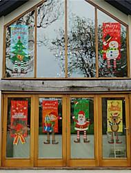 cheap -Christmas Ornament Fabric Hanging Leg Hanging Flag Window Pendant Wall Atmosphere Dress Hang Cloth Christmas Decoration For Home